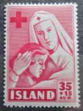Poštovní známka Island 1949 Červený kříž Mi# 255