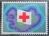 Poštovní známka Island 1975 Červený kříž, 50. výročí Mi# 509