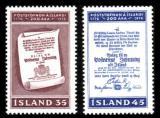 Poštovní známky Island 1976 Poštovní služby, 200. výročí Mi# 516-17