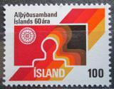 Poštovní známka Island 1976 Odborový svaz, 60. výročí Mi# 519