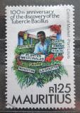 Poštovní známka Mauricius 1982 Objev TBC, 100. výročí Mi# 550