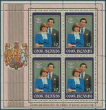 Poštovní známky Cookovy ostrovy 1981 Diana a Charles Mi# 797 Bogen Kat 24€