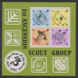 Poštovní známky Ascension 1982 Skautské hnutí, 75. výročí Mi# Block 13