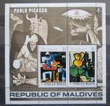 Poštovní známky Maledivy 1974 Umění, Picasso Mi# Block 24 Kat 7.50€