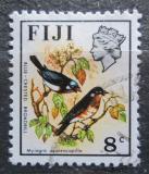 Poštovní známka Fidži 1971 Muchálek modrochocholatý Mi# 282 X
