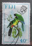 Poštovní známka Fidži 1976 Papoušek škraboškový Mi# 340