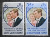 Poštovní známky Brit. Šalamounovy ostrovy 1973 Královská svatba Mi# 246-47