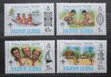 Poštovní známky Šalamounovy ostrovy 1978 Skautské hnutí, 50. výročí Mi# 365-68
