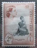 Poštovní známka Svazijsko 1956 Místní žena Mi# 57