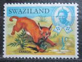 Poštovní známka Svazijsko 1968 Rys karakal Mi# 160