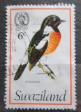 Poštovní známka Svazijsko 1976 Bramborníček černohlavý Mi# 239