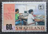 Poštovní známka Svazijsko 1990 Moderní přenos zpráv Mi# 565