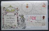 Poštovní známka Tristan da Cunha 1981 Mapa jižního Atlantiku Mi# Block 13
