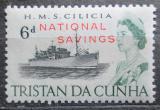 Poštovní známka Tristan da Cunha 1965 Loď Cilicia, fiskální Mi# 1