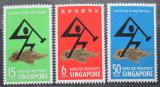 Poštovní známky Singapur 1968 Práce pro blahobyt Mi# 83-85