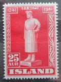 Poštovní známka Island 1941 Snorri Sturluson, básník Mi# 223