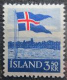 Poštovní známka Island 1958 Státní vlajka Mi# 327