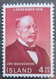 Poštovní známka Island 1968 Jón Magnússon, premiér Mi# 424