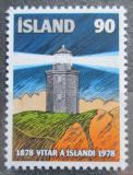 Poštovní známka Island 1978 Maják Reykjanesviti Mi# 537