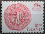 Poštovní známka Island 1986 Pečeť Reykjavíku Mi# 654