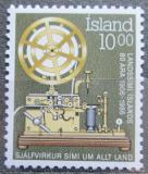 Poštovní známka Island 1986 Telegraf Mi# 658
