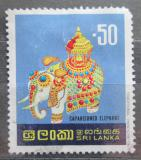 Poštovní známka Srí Lanka 1977 Nazdobený slon Mi# 473