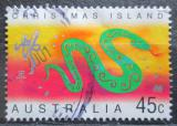 Poštovní známka Vánoční ostrov 2001 Čínský nový rok, rok hada Mi# 479