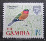 Poštovní známka Gambie 1966 Melittophagus bulocki Mi# 212