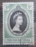 Poštovní známka Tristan da Cunha 1953 Královna Alžběta II. Mi# 13