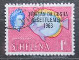 Poštovní známka Tristan da Cunha 1963 Svatá Helena přetisk Mi# 55