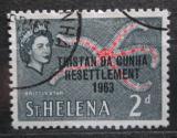 Poštovní známka Tristan da Cunha 1963 Svatá Helena přetisk Mi# 57