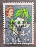 Poštovní známka Tristan da Cunha 1963 Svatá Helena přetisk Mi# 59