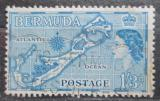 Poštovní známka Bermudy 1953 Mapa ostrovů Mi# 142