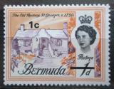 Poštovní známka Bermudy 1970 Stará fara v St. George přetisk Mi# 227 X