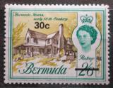 Poštovní známka Bermudy 1970 Starý dům přetisk Mi# 239 Y
