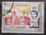 Poštovní známka Bermudy 1970 Radnice v Hamiltonu přetisk Mi# 236 Y