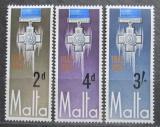 Poštovní známky Malta 1967 Kříž krále Jiřího Mi# 350-52