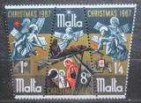 Poštovní známky Malta 1967 Vánoce Mi# 364-66