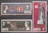 Poštovní známky Malta 1967 Návštěva královny Alžběty II. Mi# 367-69