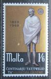 Poštovní známka Malta 1969 Mahatma Gándhí Mi# 386