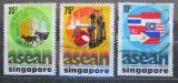 Poštovní známky Singapur 1977 ASEAN, 10. výročí Mi# 285-87