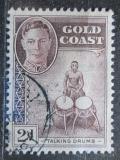 Poštovní známka Zlatonosné Pobřeží, Ghana 1948 Bubeník Mi# 123