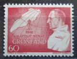 Poštovní známka Grónsko 1969 Král Frederik IX. a mapa Mi# 72