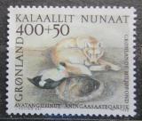 Poštovní známka Grónsko 1990 Husky a kajka mořská Mi# 208