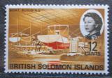 Poštovní známka Brit. Šalamounovy ostrovy 1968 Stavba lodi Mi# 173