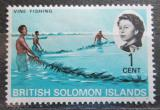 Poštovní známka Brit. Šalamounovy ostrovy 1968 Lov mušlí Mi# 167