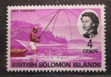 Poštovní známka Brit. Šalamounovy ostrovy 1968 Rybář na loďce Mi# 170