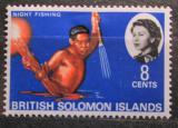 Poštovní známka Brit. Šalamounovy ostrovy 1968 Noční rybolov Mi# 172