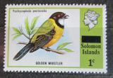 Poštovní známka Šalamounovy ostrovy 1975 Pištec zlatý přetisk Mi# 283
