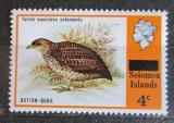 Poštovní známka Šalamounovy ostrovy 1975 Pták přetisk Mi# 286